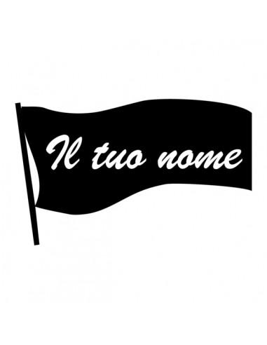 Bandiera con il tuo nome - Adesivo Prespaziato