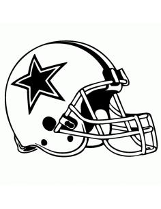 Casco Football NFL - Adesivo Prespaziato
