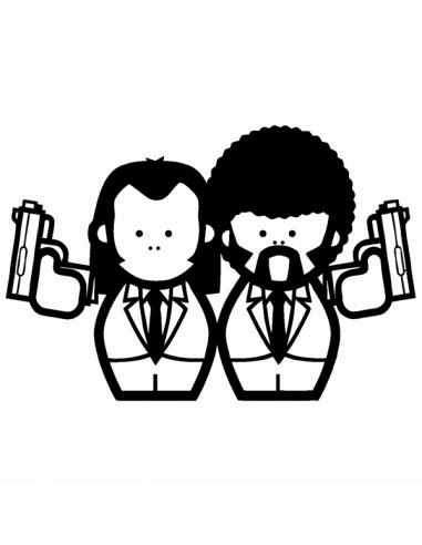 Pulp Fiction - Adesivo Prespaziato