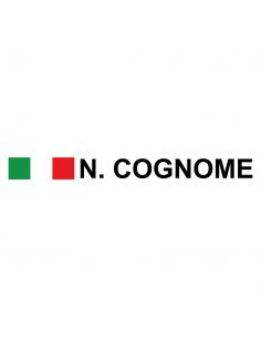 Nome Cognome Rally + Bandiera - Adesivo Prespaziato