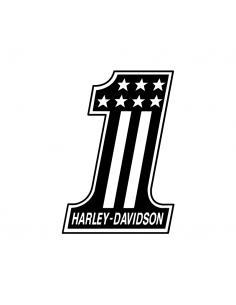 Numero 1 Harley Davidson - Adesivo Prespaziato