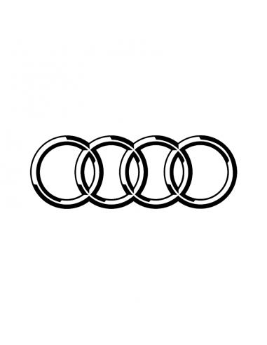 Audi Logo - Adesivo Prespaziato