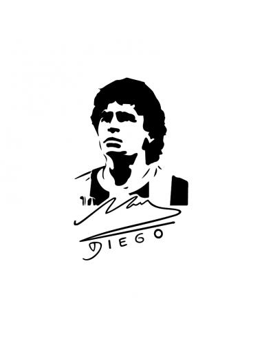 Diego Armando Maradona Firma - Adesivo Prespaziato