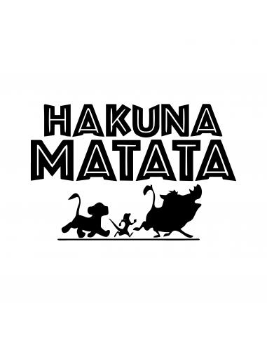 Hakuna Matata Re Leone Timon Pumba Simba - Adesivo Prespaziato