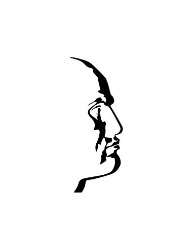Mussolini Duce Profilo - Adesivo Prespaziato