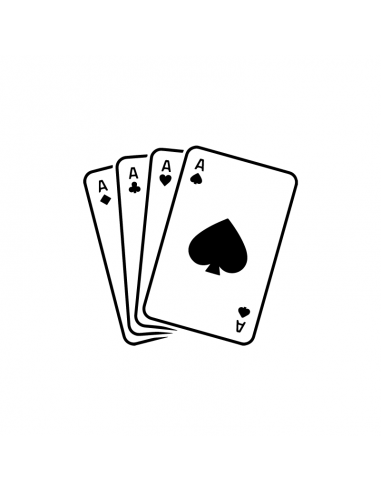 Carte da Gioco Assi - Adesivo Prespaziato