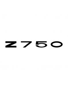 Scritta Kawasaki Z750 - Adesivo Prespaziato