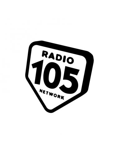 Radio 105 Network - Adesivo Prespaziato
