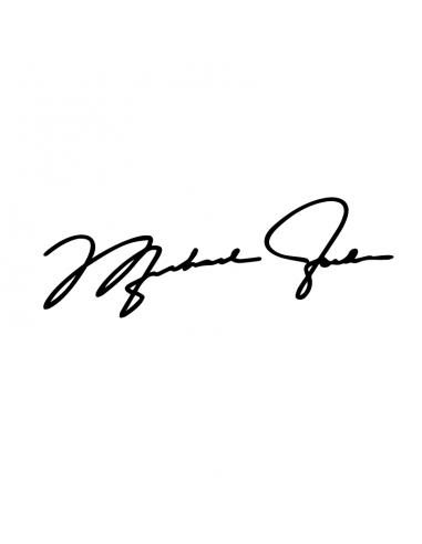 Firma Michael Jordan - Adesivo Prespaziato