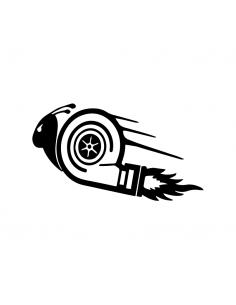 Tartaruga Motore Fiamme - Adesivo Prespaziato
