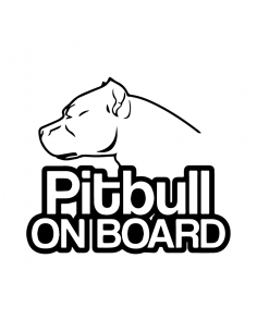 Pitbull On Board 1 - Adesivo Prespaziato
