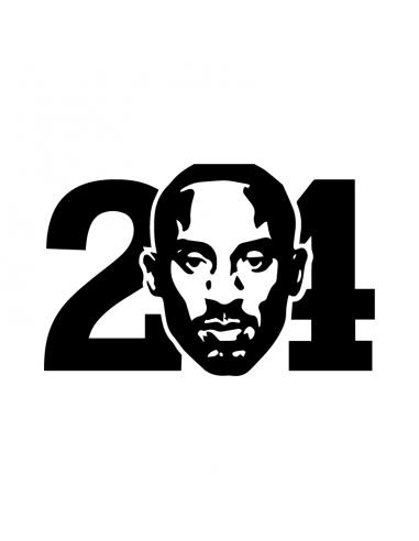 Kobe Bryant 24 - Adesivo Prespaziato