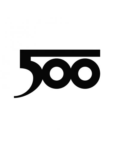 Logo Fiat 500 Old - Adesivo Prespaziato