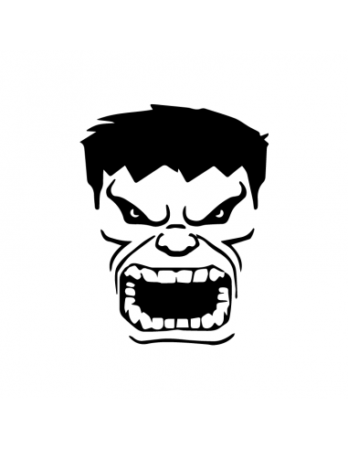 Incredibile Hulk - Adesivo Prespaziato
