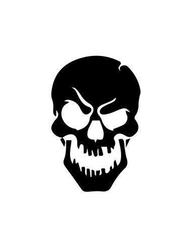 Teschio Skull 1 - Adesivo Prespaziato