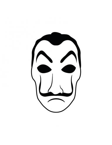 Maschera Dalì - Adesivo Prespaziato