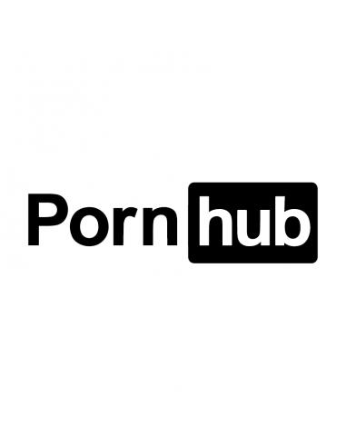 Pornhub Logo - Adesivo Prespaziato
