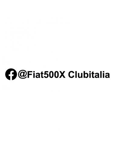Fiat 500x Club Italia - Adesivo Prespaziato