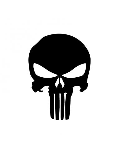 Teschio The Punisher - Adesivo Prespaziato