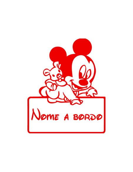 Bimbo a Bordo Nome Personalizzato Disney - Adesivo Prespaziato