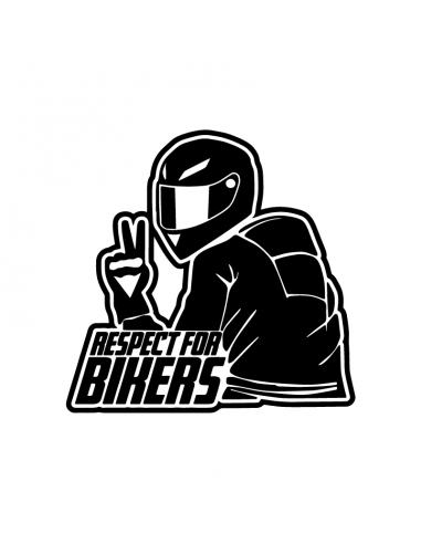 Respect For Bikers - Adesivo Prespaziato