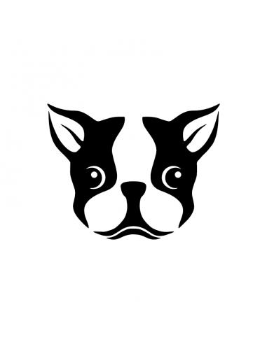 French Bulldog - Adesivo Prespaziato