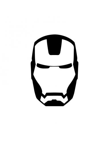 Faccia Iron Man - Adesivo Prespaziato