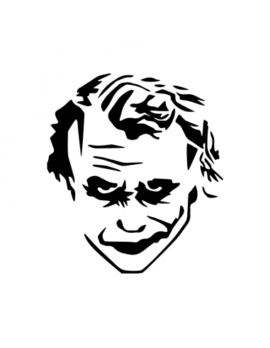 Joker Heath Ledger - Adesivo Prespaziato