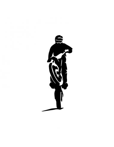 Motocross Leva - Adesivo Prespaziato