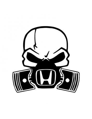 Teschio Honda Maschera - Adesivo Prespaziato