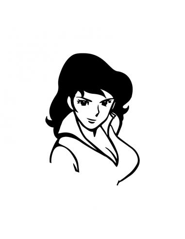 Fujiko Margot Intera - Adesivo Prespaziato