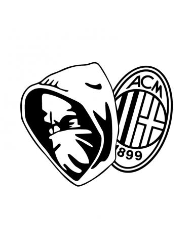 Curva Sud Milan - Adesivo Prespaziato