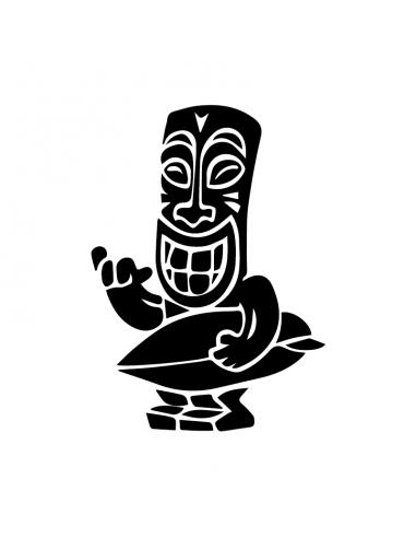 Uomo Tavola Surf Hawaiano - Adesivo Prespaziato