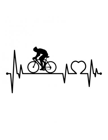 Love Bicicletta - Adesivo Prespaziato