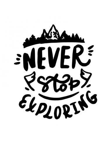 Never Stop Exploring - Adesivo...
