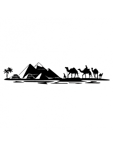 Egitto Piramidi Beduini - Adesivo...