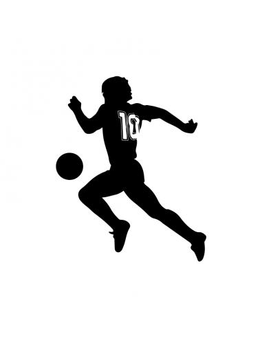 Diego Armando Maradona Pallone - Adesivo Prespaziato