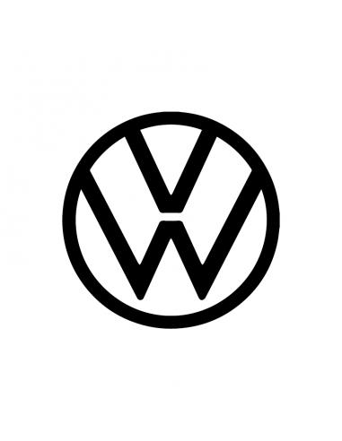 Nuovo Logo Volkswagen - Adesivo Prespaziato