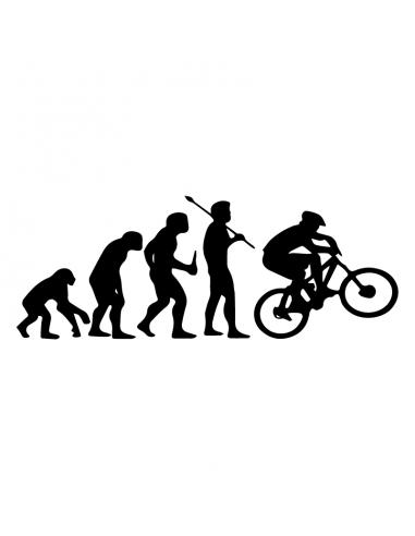 Evoluzione Bici - Adesivo Prespaziato