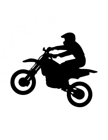 Motocross - Adesivo Prespaziato