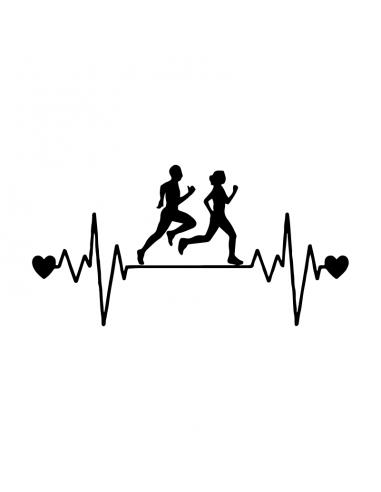 Love Running - Adesivo Prespaziato