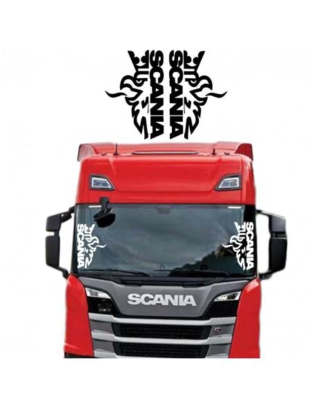 Coppia Scania Grifone - Adesivo Prespaziato
