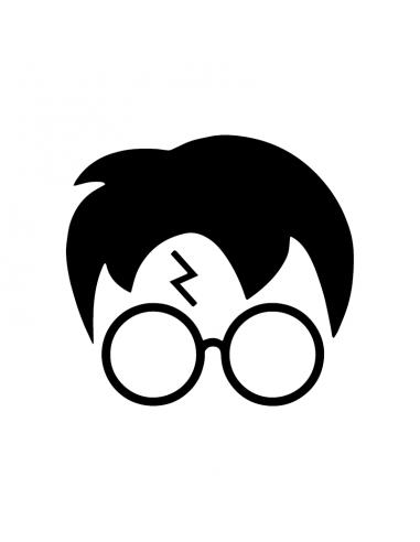 Harry Potter Faccia - Adesivo Prespaziato