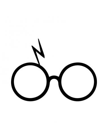 Harry Potter Occhiali - Adesivo Prespaziato