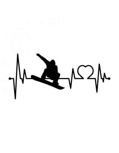 Love Snowboard - Adesivo Prespaziato