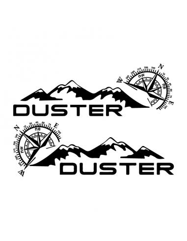 Coppia Rosa dei Venti Montagne Dacia Duster - Adesivo Prespaziato