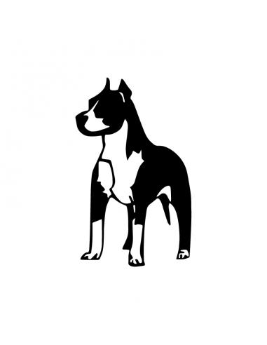 Pitbull in piedi - Adesivo Prespaziato