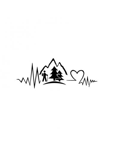 Trekking Love Montagne - Adesivo...