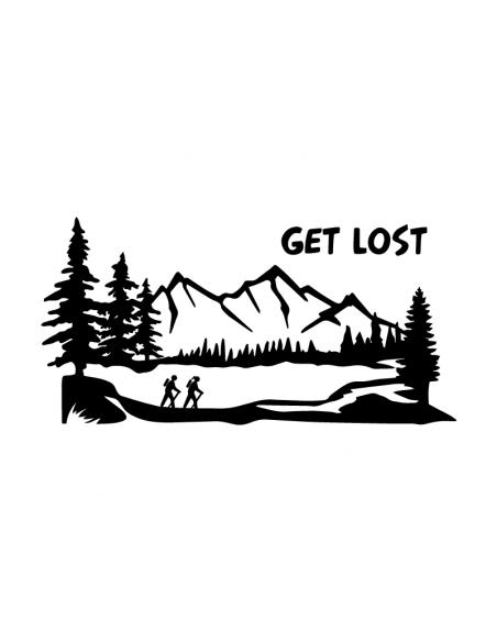 Get Lost Trekking Montagne - Adesivo Prespaziato