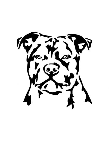 Staffordshire Bull Terrier Faccia 1 - Adesivo Prespaziato
